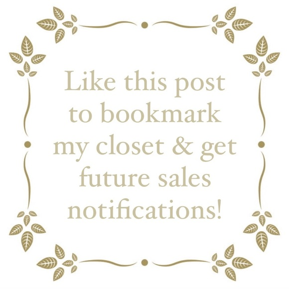 Like this Post to Bookmark my Closet & for Sales!